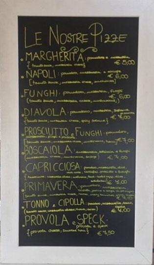 Caffe Crociani - Ristorante - Primi Secondi Menu completo 11 - Menu Pizza