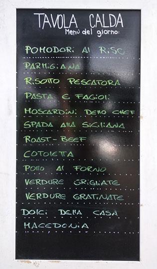 Caffe Crociani - Ristorante - Primi Secondi Menu completo 12 - Menu Tavola Calda